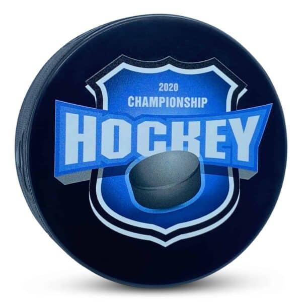 Custom Championship Hockey Puck